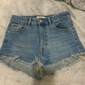 Zara High Waisted Denim Shorts